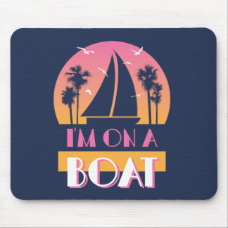 Die einsame Insel - ich bin auf einem Boot Mousepads