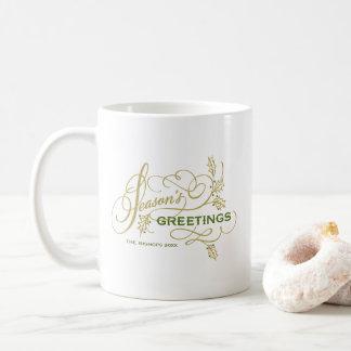 Die eleganten Grüße der Jahreszeit blühen Tasse