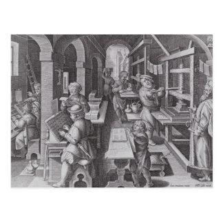 Die Entwicklung des Druckens Postkarte