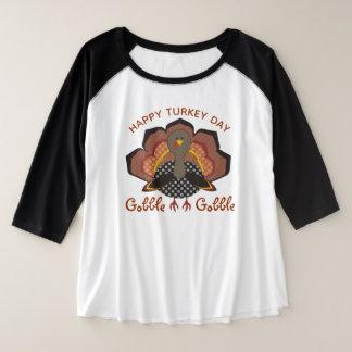 Die Erntedank-Türkei-Shirt Große Größe Raglan T-Shirt