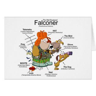 Die falconer-Cartoon-Karte Grußkarte