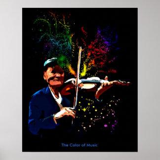 Die Farbe von Musik Poster