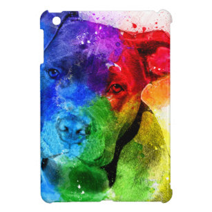 Die Farben der Liebe sind ein Pitbull iPad Mini Hülle