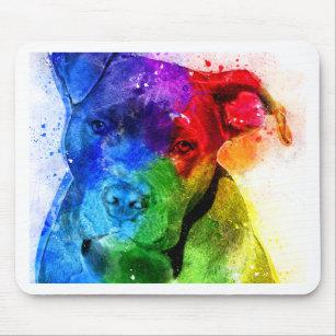 Die Farben der Liebe sind ein Pitbull Mousepad