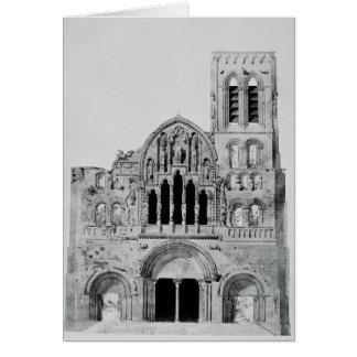 Die Fassade von La Madeleine de Vezelay Grußkarte
