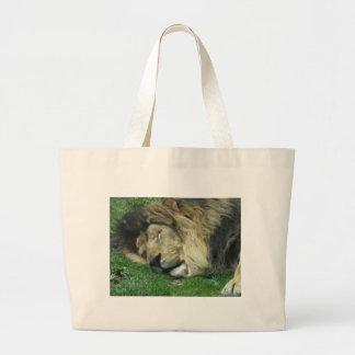 Die faule Löwe-Taschen-Tasche Jumbo Stoffbeutel