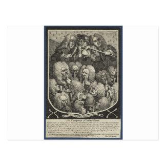 Die Firma der Leichenbestatter durch William Postkarte