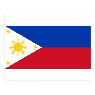 Die Flagge Philippinen (Pilipinas) Postkarte