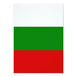 Die Flagge von Bulgarien 12,7 X 17,8 Cm Einladungskarte