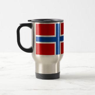 Die Flagge von Norwegen Reisebecher