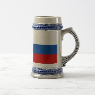 Die Flagge von Russland Bierglas
