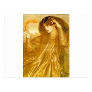 Die Frauen der Flamme durch Dante Gabriel Rossetti Postkarte
