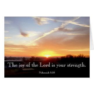 Die Freude am Lord ist Ihre Stärke Karte