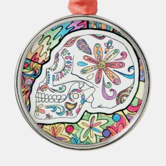 Die fünf Richtungen Rundes Silberfarbenes Ornament