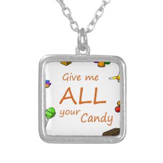 die ganze Süßigkeit Versilberte Kette