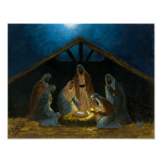 Die Geburt Christi Poster