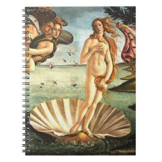 Die Geburt von Venus Notiz Buch