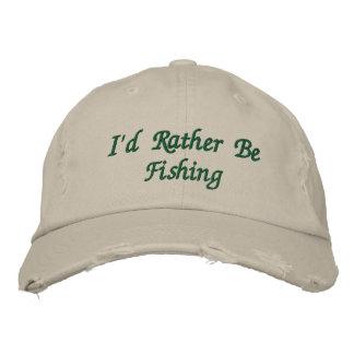 Die gestickte Kappe des Fischers Bestickte Mützen