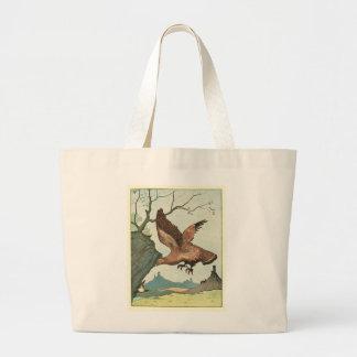 Die goldenes Eagle-Geschichten-Buchillustration Jumbo Stoffbeutel