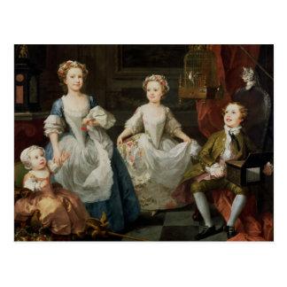 Die Graham-Kinder, 1742 Postkarte