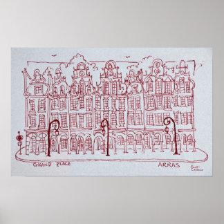 Die großartige Region des Platz-| Artois, Arras, Poster