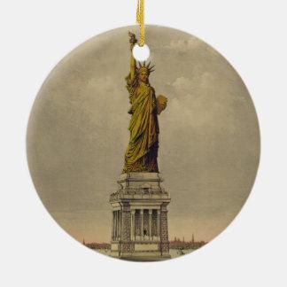 Die große Bartholdi Statue durch Ives 1885 Keramik Ornament