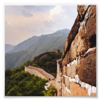 Die große Wand der China Fotodruck