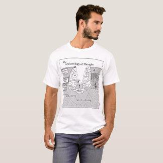 Die große weiße Archäologie der Männer des T-Shirt