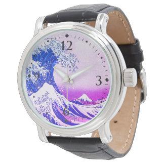Die große Welle weg von Kanagawa Armbanduhr