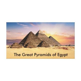 Die großen Pyramiden von Ägypten Leinwand Druck
