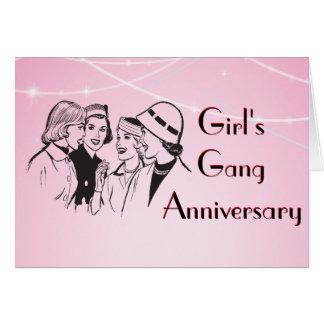 Die Gruppen-Wiedersehen-Klatsch-Jahrestags-Sitzung Grußkarte
