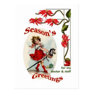 Die Grüße der Jahreszeit für Doktor-u. Postkarte