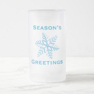 Die Grüße der Jahreszeit Mattglas Bierglas