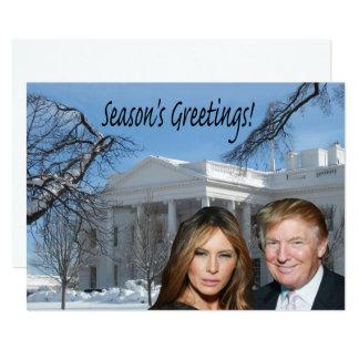 Die Grüße der Jahreszeit von Donald und von Karte