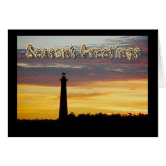 Die Grüße der Kap Hatteras Leuchtturm-Jahreszeit Karte