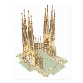 Die heilige Familie Antonio Gaudi. Barcelona Postkarte