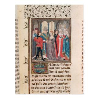 Die Heirat von König Philippe-Auguste von Postkarte