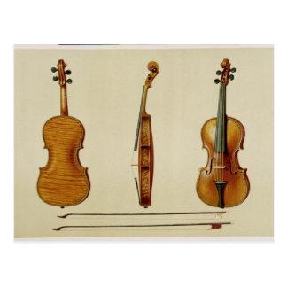 Die Hellier Violine hergestellt von Antonio Postkarte