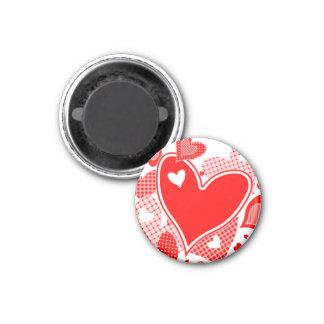 Die Herzen des Valentinsgrußes Runder Magnet 2,5 Cm
