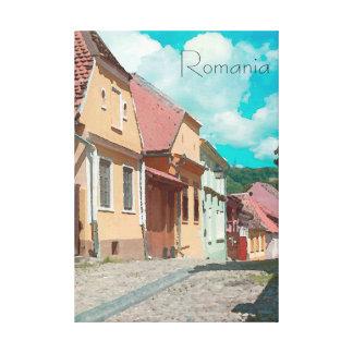 Die hinteren Straßen der RomaniaTravel Plakat-Art Leinwanddruck