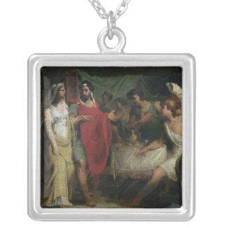 Die Hochzeit von Alexander der Große und von Roxan Halskette Mit Quadratischem Anhänger