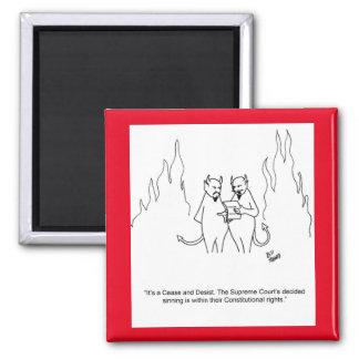 Die Höllen-Magnet des lustigen Teufels Quadratischer Magnet