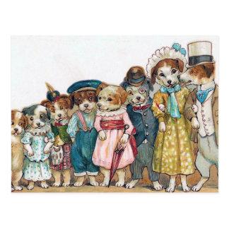 """Die Hundefamilie"" Vintag Postkarten"