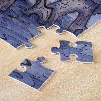 Die Hütten-Puzzle der Hexe vom unwirklichen Puzzle
