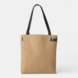 """Die """"ich bin Brown-Enthäutete Tasche Afrikas"""""""