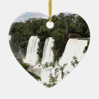 Die Iguaçu-Wasserfälle, Argentinien, Südamerika Keramik Herz-Ornament