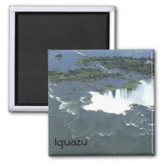 Die Iguaçu-Wasserfälle - Luftaufnahme Quadratischer Magnet