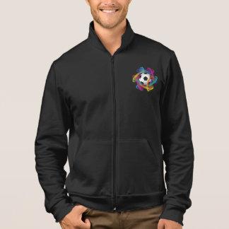 Die Jacke der bunten Fußball-Männer