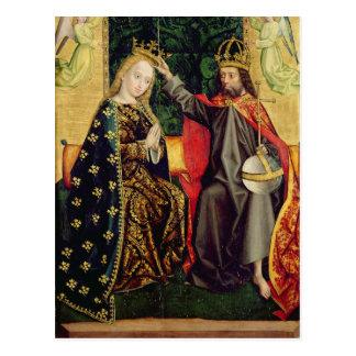 Die Jungfrau inthronisiert, vom Hauben-Altar, 1499 Postkarte