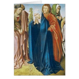 Die Jungfrau Mary mit Johannes der Evangelist Grußkarte